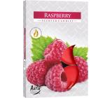 BISPOL Aura Raspberry - Malina vonné čajové sviečky 6 kusov