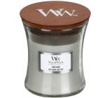 Woodwick Fireside - Oheň v krbe vonná sviečka s dreveným knôtom a viečkom sklo malá 85 g