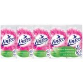 Linteo Soft & Delicate papírové kapesníky 3 vrstvé 10 x 10 kusů