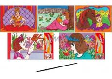 Malování vodou princezny 28 x 21,5 cm 1 kus
