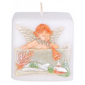 Candles Anjel s trumpetu vonná sviečka kocka 50 mm