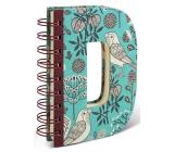 If Alphabooks Note Books Zápisník v tvare písmena D 91 x 14 x 124 mm