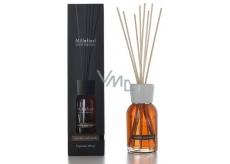 Millefiori Milano Natural Vanilla & Wood - Vanilka a drevo Difuzér 500 ml + 12 stebiel v dĺžke 35 cm do veľkých priestorov vydrží 6-7 mesiacov