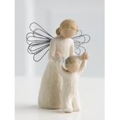 Willow Tree - Strážný anděl - Mějte nad sebou vždy Vašeho Anděla strážného Figurka anděla Willow Tree, výška 12,5 cm