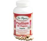 Dr. Popov Psyllium Rozpustná vláknina, navodzuje pocit sýtosti, podporuje metabolizmus kapsule 120 kusov 104 g