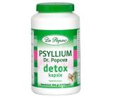 Dr. Popov Psyllium Detox Pre intenzívne očistu tela, kombinácia vlákniny a účinných rastlinných extraktov 120 kapslí / 104 g