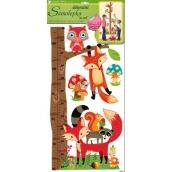 Room Decor Samolepky na stenu strom s lesnými zvieratkami, líška a sova 70 x 33 cm 1 arch