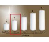 Lima Gastro hladká sviečka biela valec 80 x 150 mm 1 kus