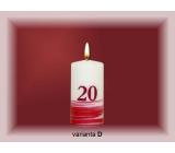 Lima Jubilejní 20 let svíčka bílá zdobená 50 x 100 mm 1 kus