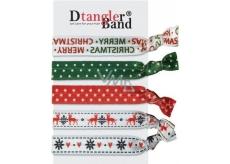 Dtangler Band Set Buble Merry Christmas gumičky do vlasov 5 kusov