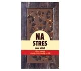 Bohemia Gifts & Cosmetics Mléčná, hořká a chilli čokoláda sypaná Na Stres pane učiteli ručně vyráběná 80 g
