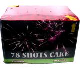 78 Shots Cake kompakt pyrotechnika CE3 78 rán III. triedy nebezpečenstva predajné od 21 rokov!