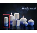 Lima Aromatická spirála Mořský vánek svíčka bílo - modrá válec 50 x 100 mm 1 kus