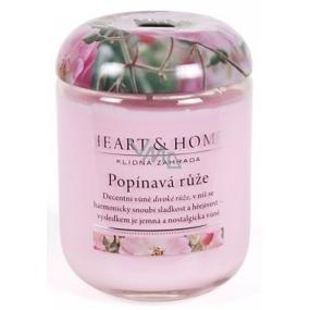 Heart & Home Popínavá ruža Sójová vonná sviečka veľká horí až 70 hodín 310 g