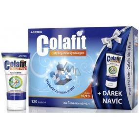 Apotex Colafit čistý kryštalický kolagén 120 kociek + Colafit Akut Pre masážny krém 50 ml, darčeková sada
