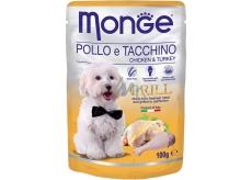 Monge Dog Grill kuře, krůta kapsička 100 g