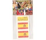 Arch Tetovací obtisky na obličej i tělo Španělsko Espaňa vlajka 2 motivy
