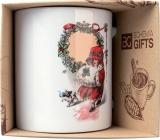 Bohemia Gifts Keramický hrnček s obrázkom Dievčatko a Vianoce 350 ml