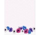 Albi Samolepící bloček Květy 7 x 8 cm 100 listů