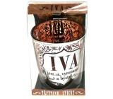 Albi Třpytivý svícen ze skla na čajovou svíčku IVA, 7 cm