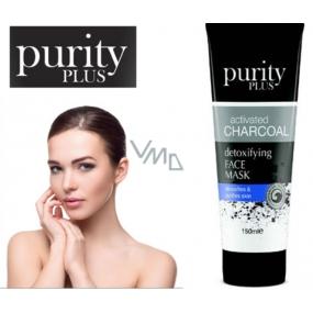 Purity Plus Activated Charcoal Aktívne drevené uhlie detoxikačné a čistiace pleťová maska 100 ml