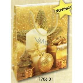 Nekupto Darčeková papierová taška strednej 23 x 18 x 10 cm Vianočný 1706 01 WBM