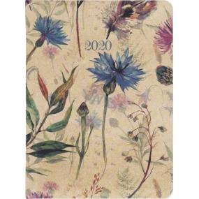Albi Diár 2020 týždenný Lúčne kvety 17 x 12,5 x 1,2 cm