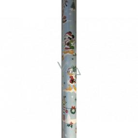 Ditipo Darčekový baliaci papier 70 x 200 cm Vianočný Disney Mickey Minnie káčer Donald svetlo modrý