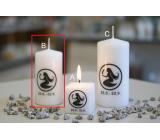Lima Horoskop Panna sviečka valec 50 x 100 mm 1 kus