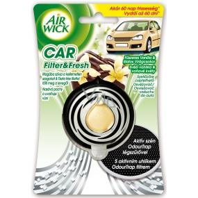Air Wick Car Filter & Fresh Svěží vanilka a voňavé květy osvěžovač vzduchu 3 ml