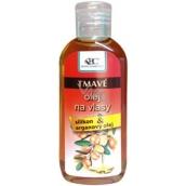 Bione Cosmetics Arganový olej se silikonem na tmavé vlasy 80 ml