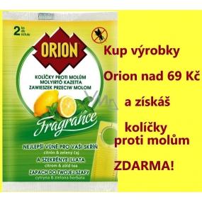 DÁREK Orion Fragrance Citrón & Zelený čaj závěsné kolíčky proti molům 2 kusy