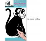 Samolepka tabuľka na písanie kriedou opice 49 x 29 cm 1 arch