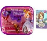 Disney Princess Sofia the First sponky 2 kusy + gumičky do vlasů 2 kusy + mini hřebínek 1 kus + etue, dárková sada
