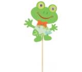 Žaba z filcu zápich 8 cm + špajle