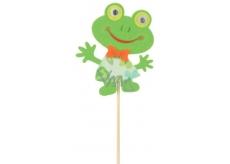 Žába z filcu zápich 8 cm + špejle