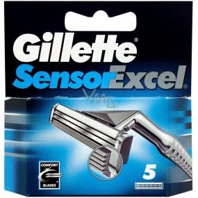 Gillette Sensor Excel náhradné čepieľky 3 kusy