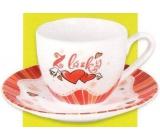 Nekupto Dárkové centrum Coffee set Z lásky 1 dcl IF 005