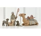 Willow Tree - Pastýř a zvířata do betléma, velbloud - Obklopují nový život láskou a vřelostí, výška pastýře včetně hole 18,5 cm, výška pastýře bez hole 14 cm