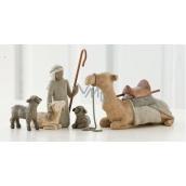 Willow Tree - Pastier a zvieratá do betlehema, ťava - Obklopujú nový život láskou a vrelosťou, výška pastiera vrátane palice 18,5 cm, výška pastiera bez palice 14 cm