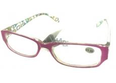 Berkeley Čítacie dioptrické okuliare +1,5 plast ružové stranice s obdĺžniky 1 kus MC2084