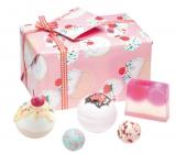 Bomb Cosmetics Višňová - Cherry Bathe-well balistik 2x160 g + gulička 2x30 g + mydlo 100 g, kozmetická sada