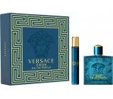 Versace Eros Eau de Parfum toaletná voda pre mužov 100 ml + toaletná voda 10 ml, darčeková sada