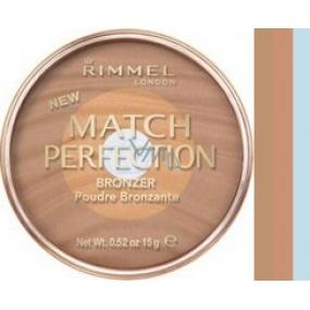 Rimmel London Match Perfection Bronzer púder 002 Medium 15 g