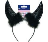 Čertovské rohy černé 1 kus 9156