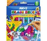 Amos Slupovací barvy na sklo 5 tub barev 10 ml + 1 konturu , 4 šablony + 2 fólie na malování