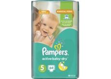 Pampers Active Baby Dry 5 Junior 11-18 kg jednorázové plenky 64 kusů