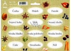 Arch Samolepky na kořenky Juta barvotisk Čočka - základ v kuchyni (luštěniny, mouky,...) 0514