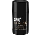 Montblanc Legend Night deodorant stick pre mužov 75 g