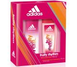 Adidas Fruity Rhythm parfumovaný deodorant sklo 75 ml + dezodorant sprej 150 ml, kozmetická sada
